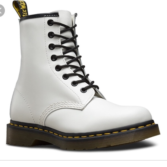 e4cfabdf0824 Dr. Martens Shoes - dr martens 1460 smooth white boots